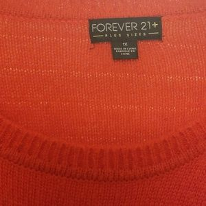 Forever 21 Sweaters - Forever 21 Red Sweater w/number 9